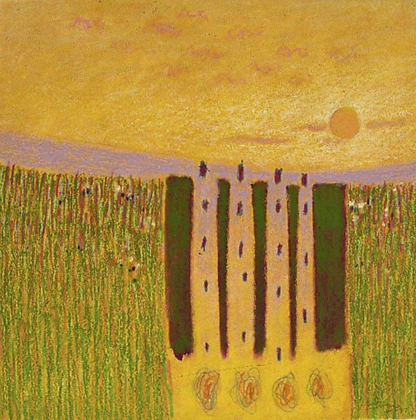 "60-97   | pastel on paper | 14 x 14"" | 1997"