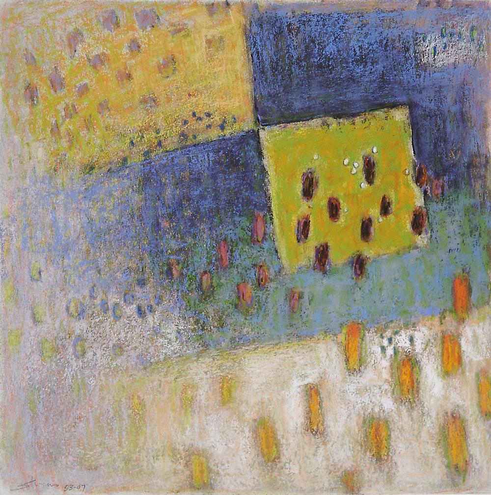 "53-07   | pastel on paper | 14 x 14"" | 2007"