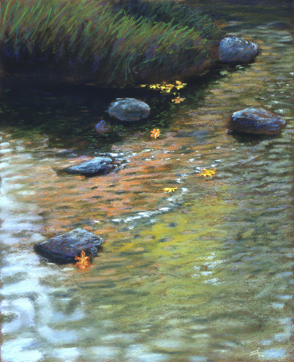 Autumn Reflections   | pastel on paper | 1994