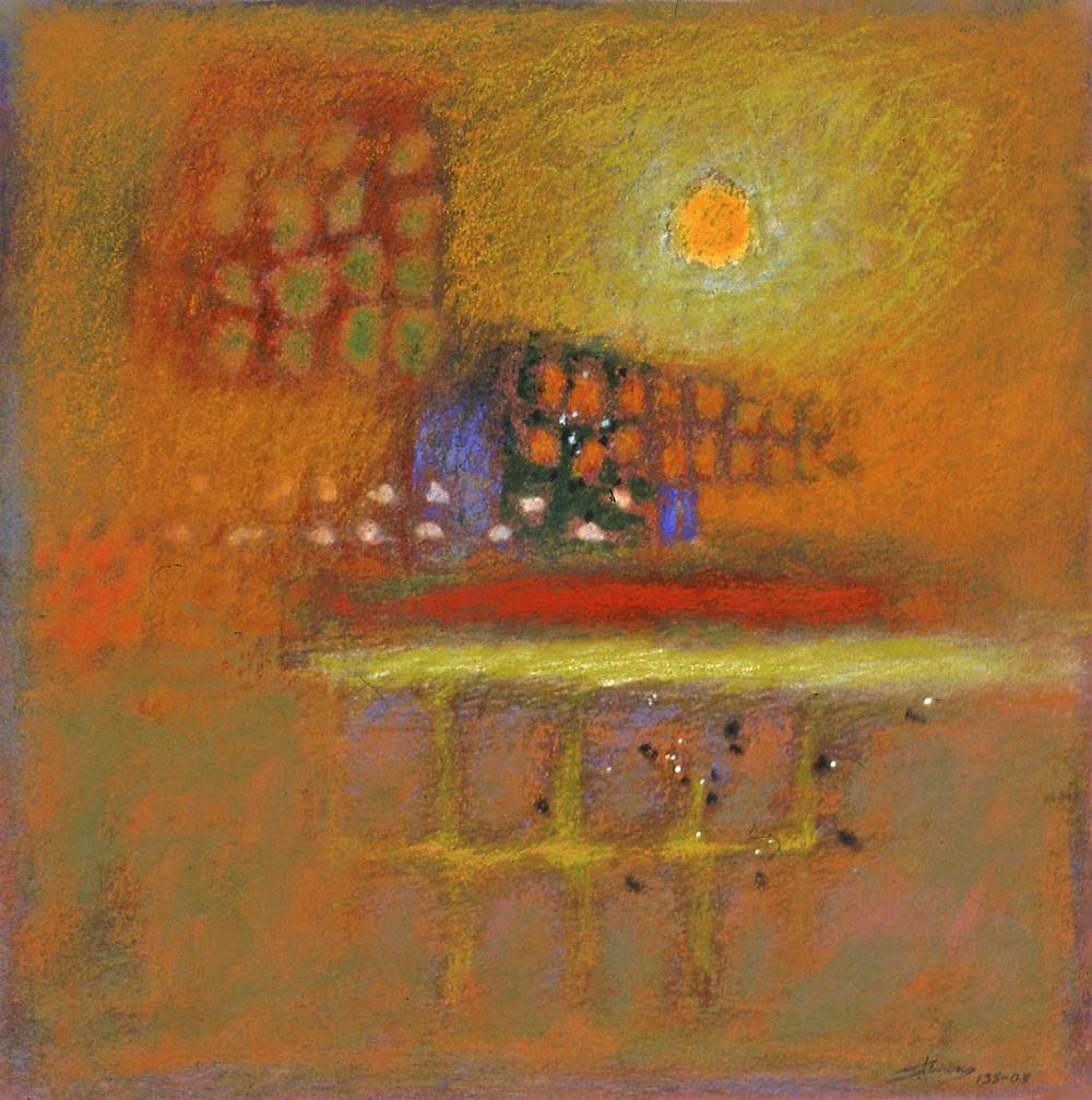 "133-03   | pastel on paper | 14 x 14"" | 2003"