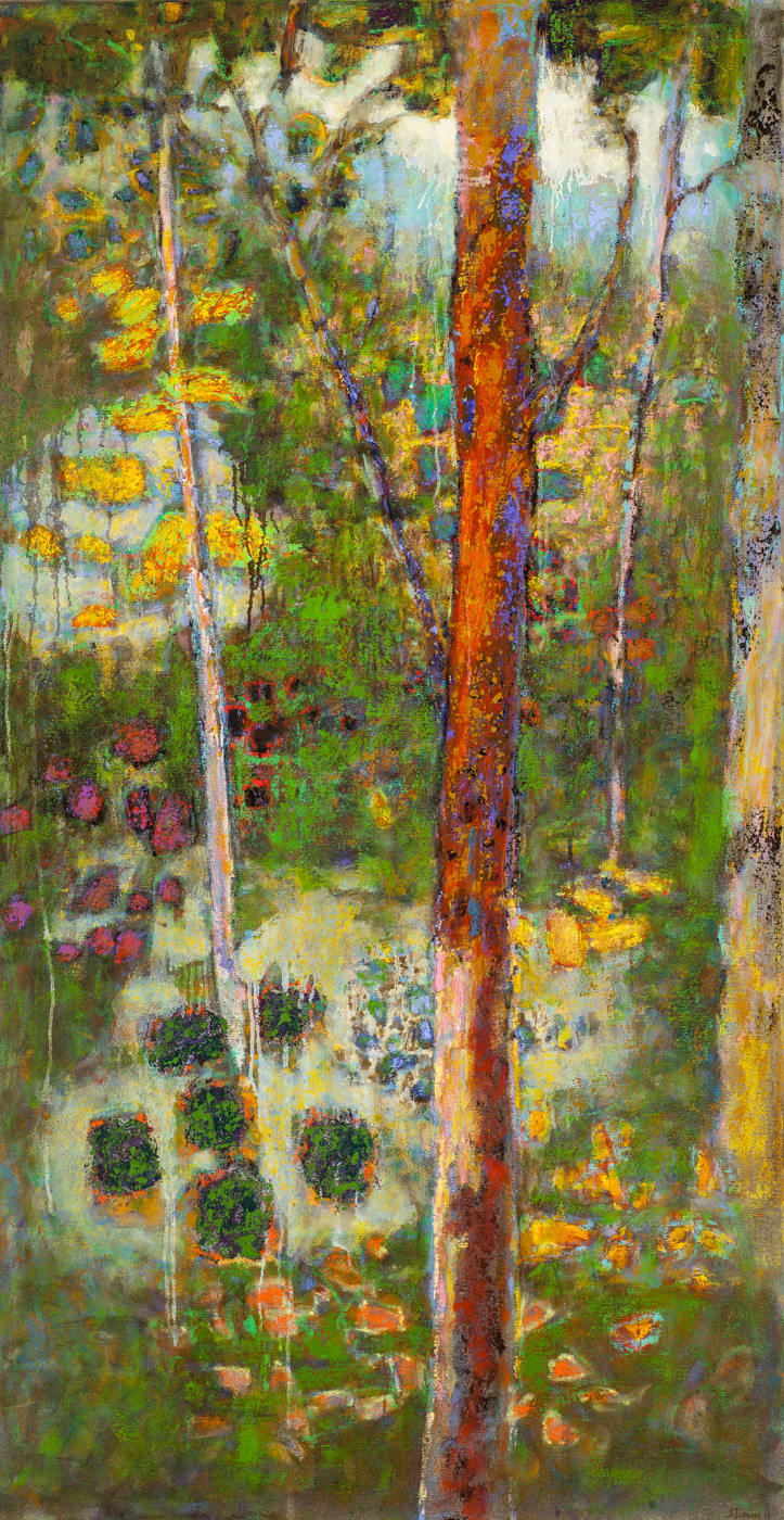Backwoods Immersion   | oil on canvas | 62 x 32"