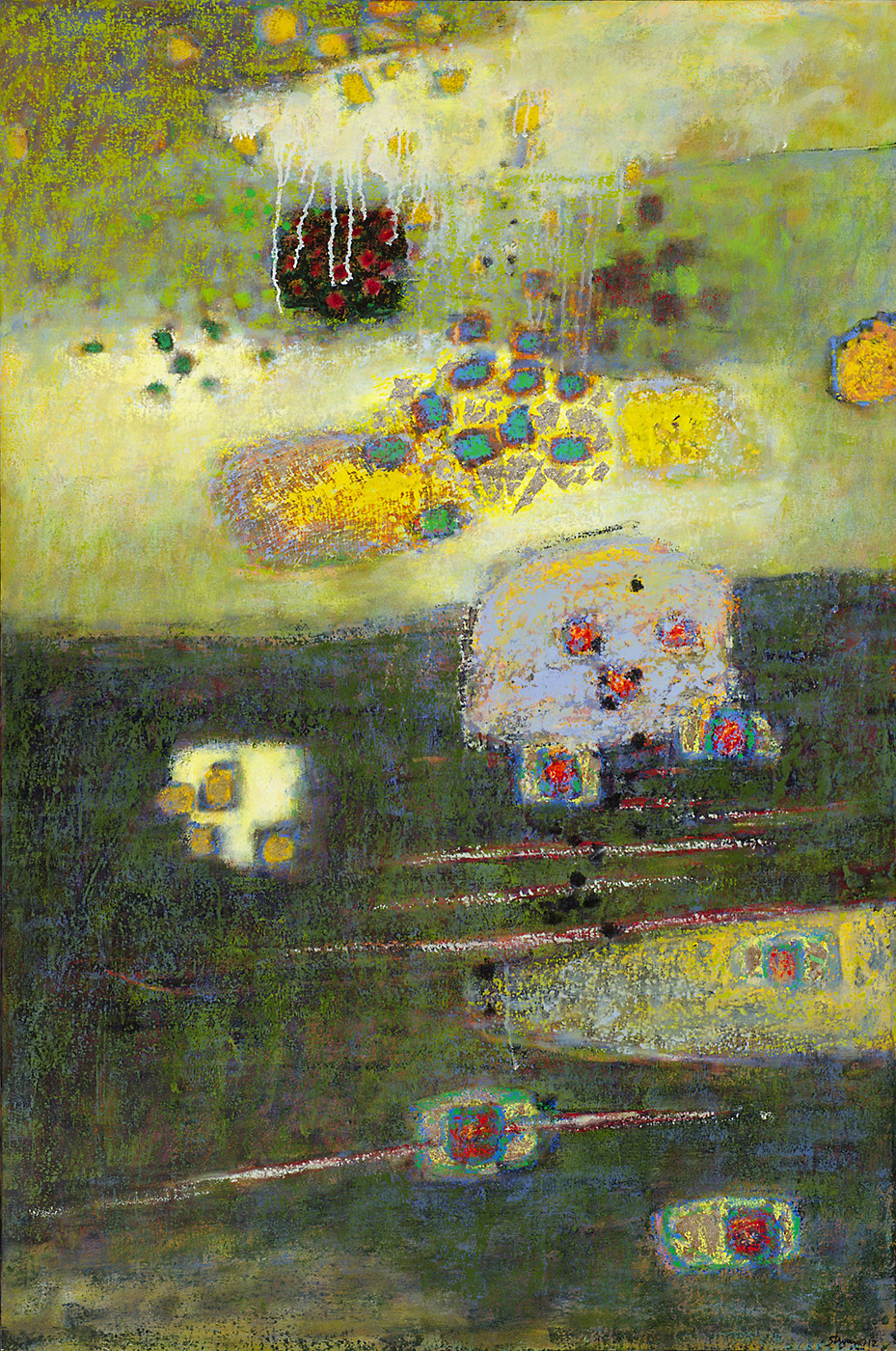 "Hazy Suspension   | oil on canvas | 48 x 32"" | 2012"