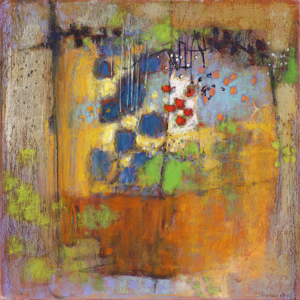 "62-12   | pastel on paper | 14 x 14"" | 2012"