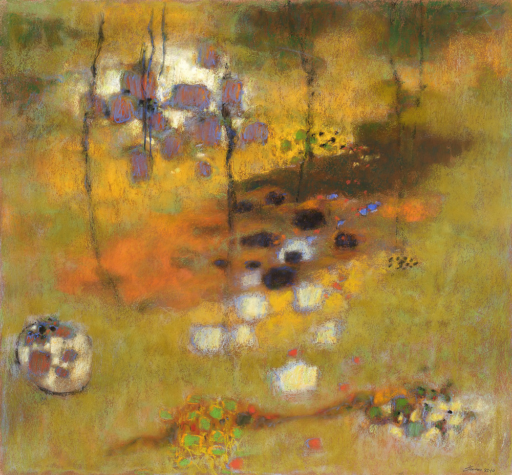 Pattern of Potential   | pastel on paper | 24 x 26"