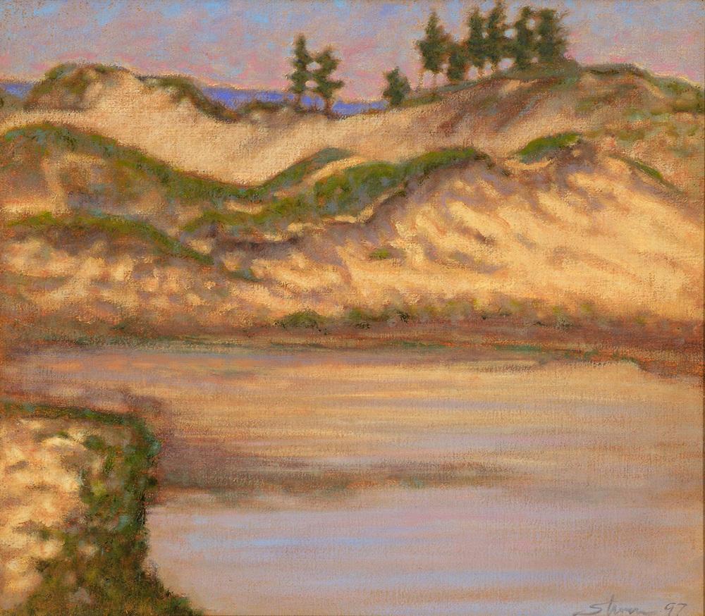 "Interdunal Ponds   12 x 15""   oil on canvas   1997"