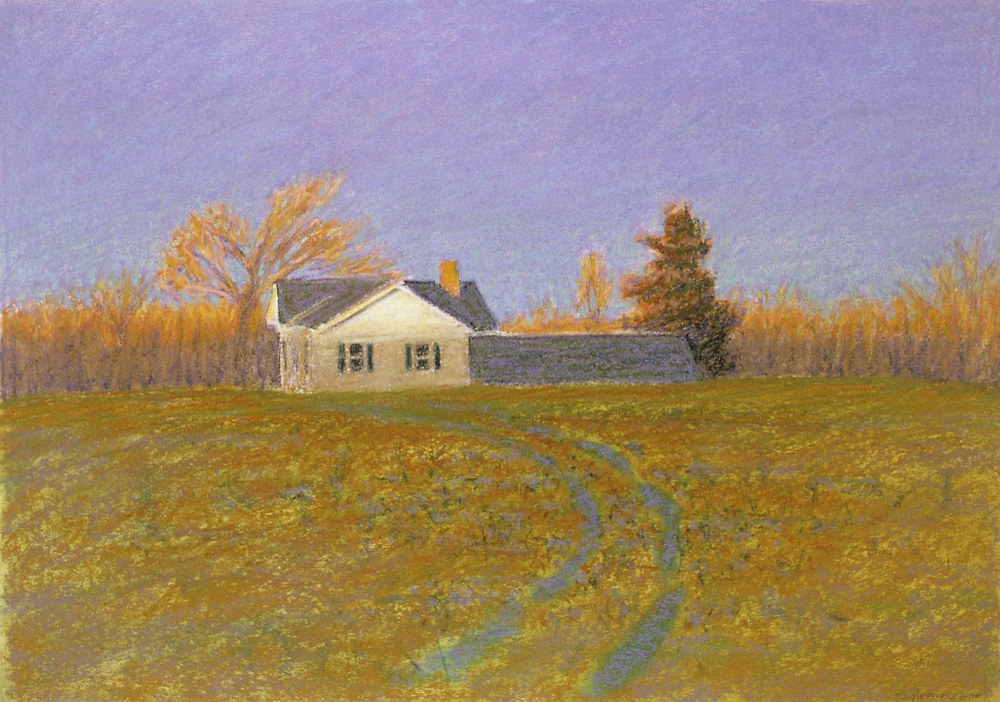 First Light   | oil pastel | 14 x 20"