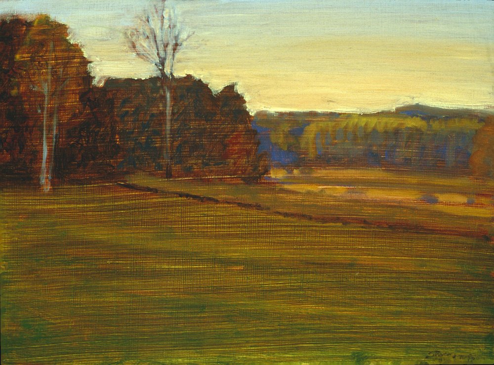 Rural Sunset   | oil on panel | 12 x 17"