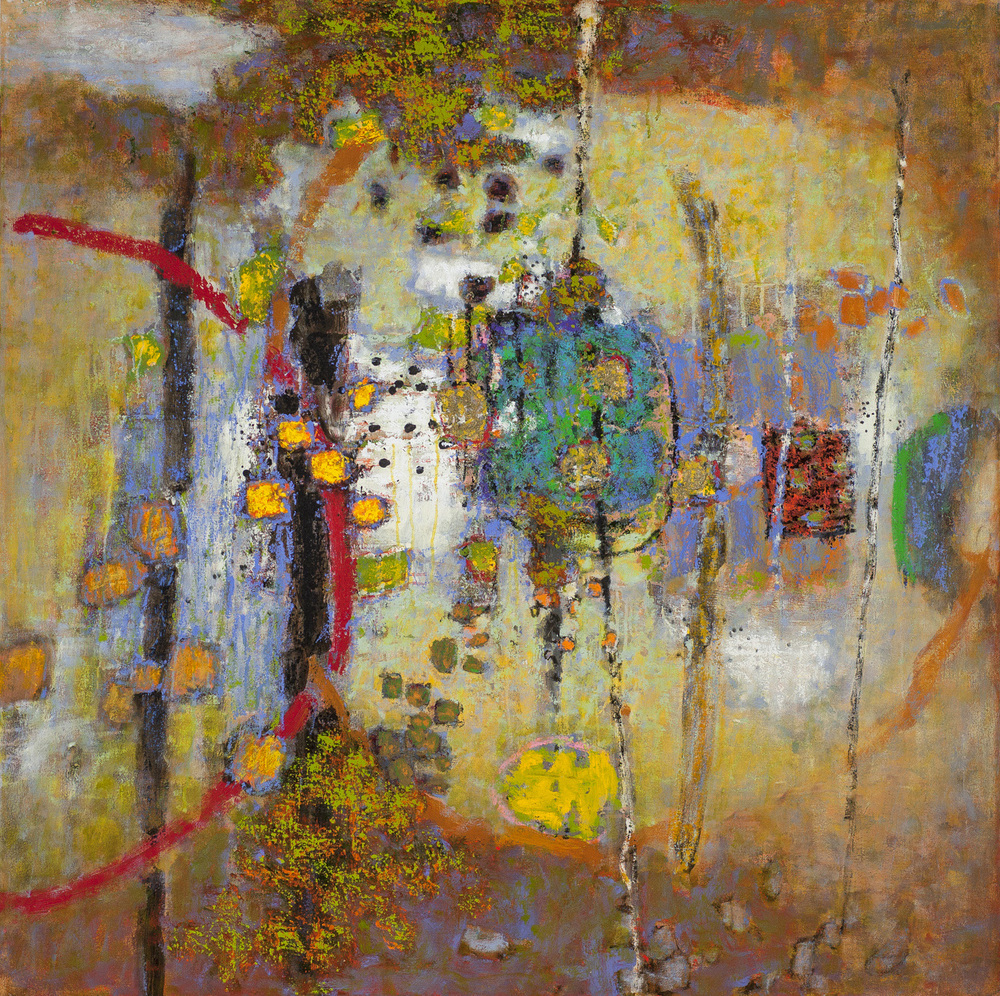 "Everywhere, Nowhere   | oil on canvas | 48 x 48"" | 2016"