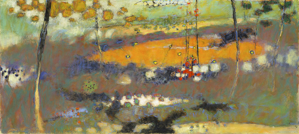 Worlds Without Rules   | pastel on paper | 18 x 40"