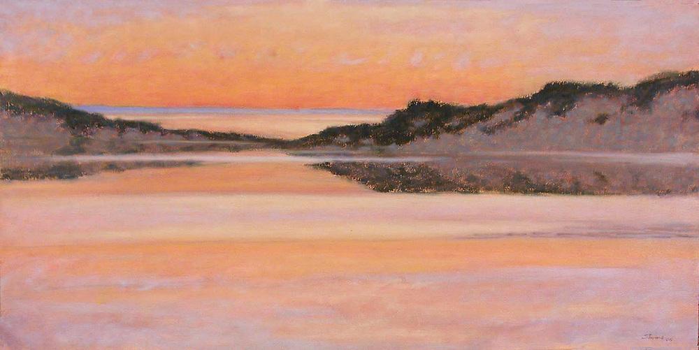 "North Bar Lake   | oil on canvas | 20 x 40"" | 2005"
