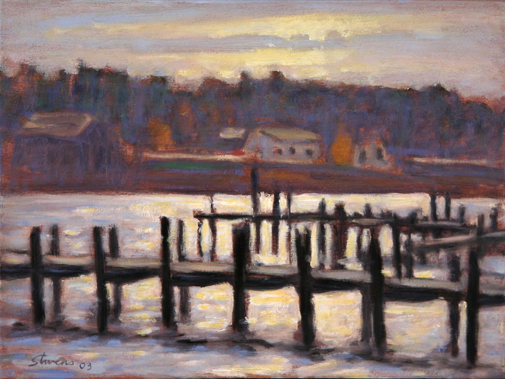 St. James Harbor   | oil on canvas | 9 x 12"