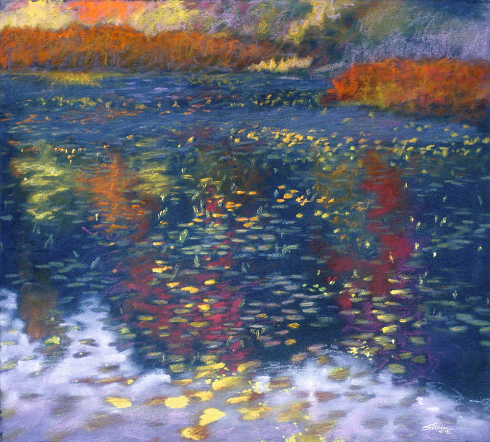 Pond In Fall   | pastel on paper | 18 x 20"