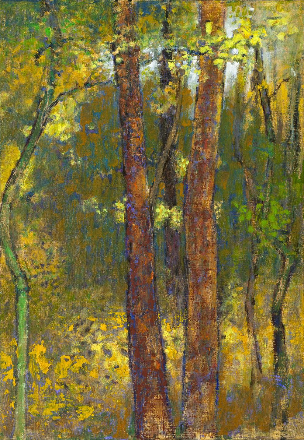 "Twin Trees   | oil on linen | 20 x 14"" | 2016"