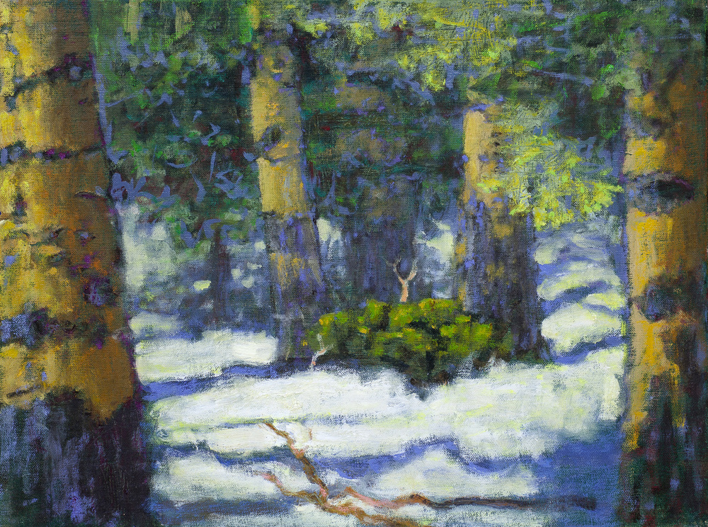 Aspens In Snow   | oil on linen | 112 x 16"