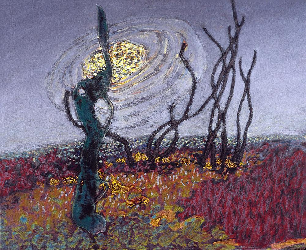 "Desert Night   | mixed media | 24 x 29"" | 1991"