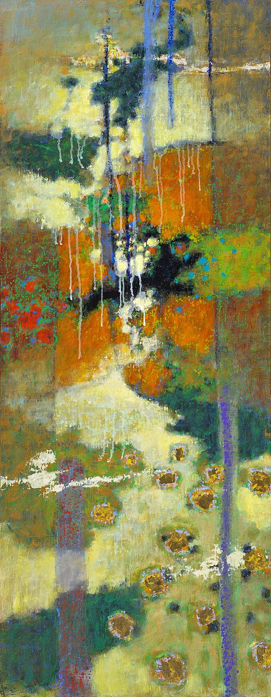 Traveller's Tales | oil on canvas | 48 x 19"