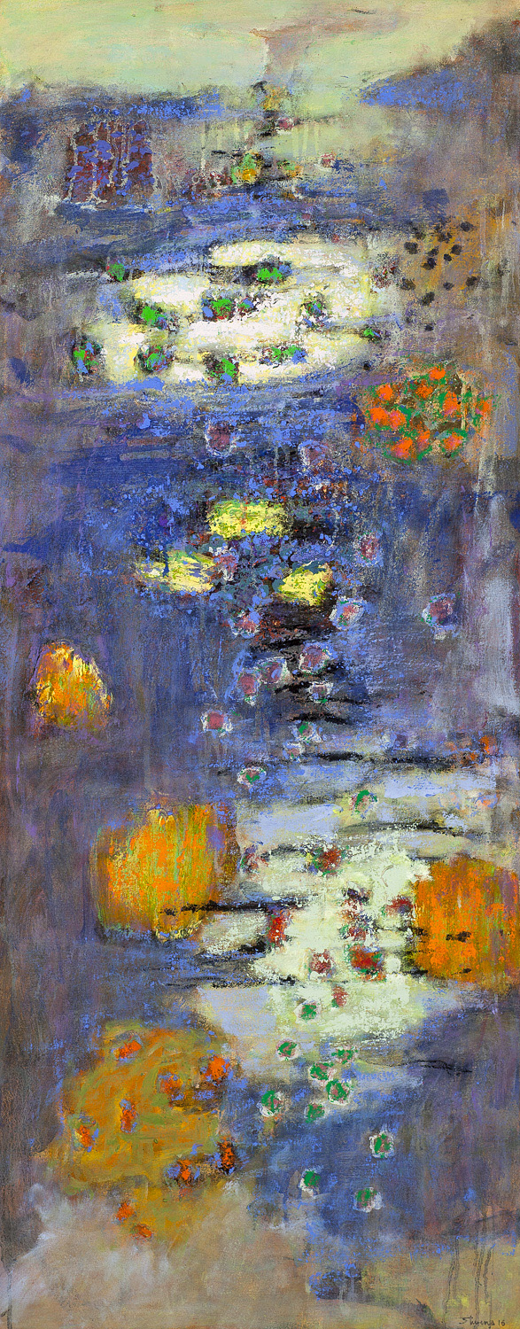 Invisible Connections   | oil on canvas | 48 x 19"