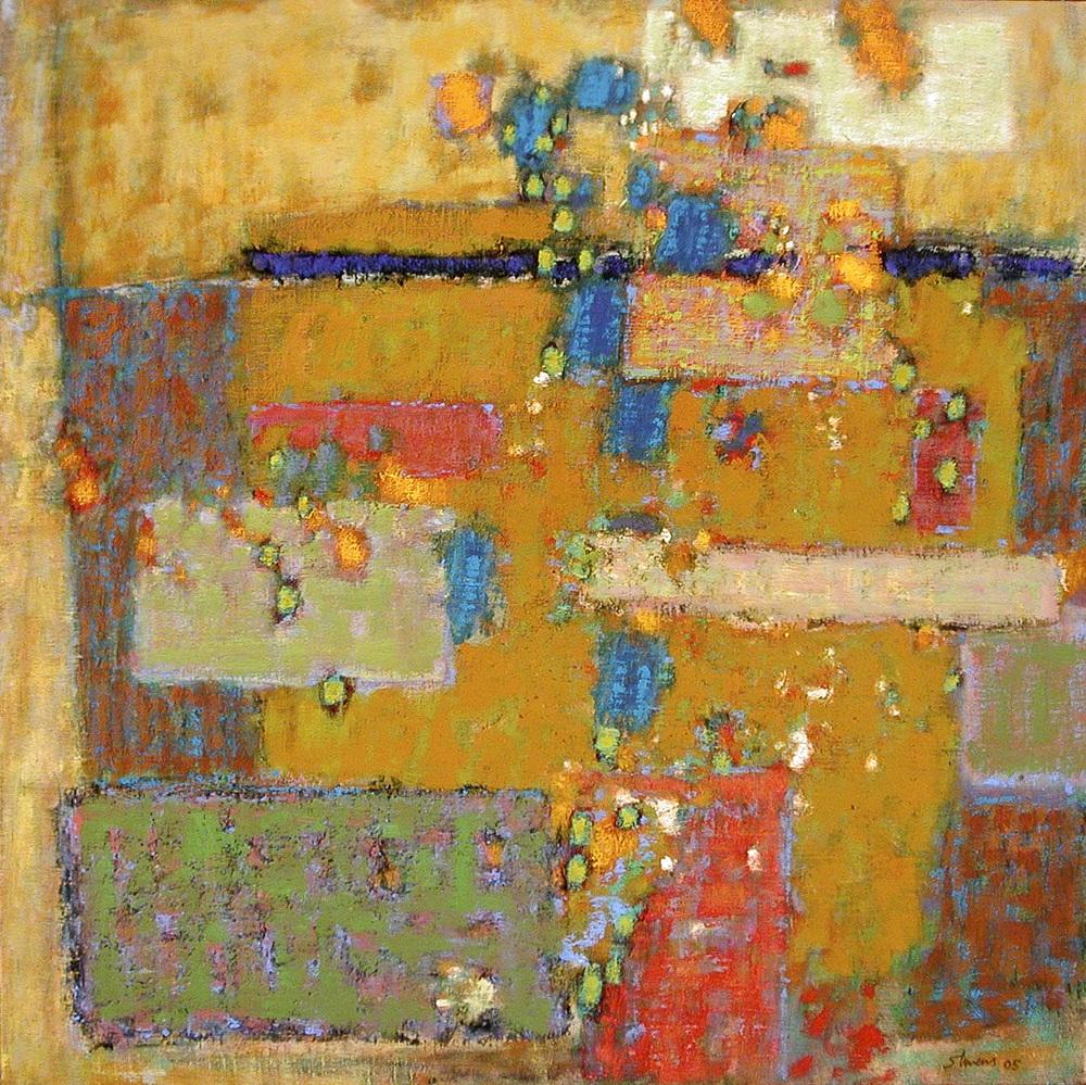 "77-05   | oil on linen | 24 x 24"" | 2005"