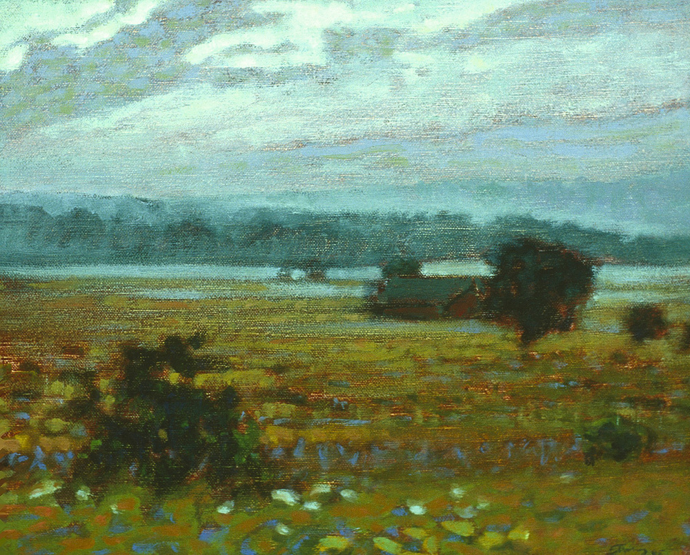 Crouch Farm, Morning Light   | oil on canvas | 12 x 15"