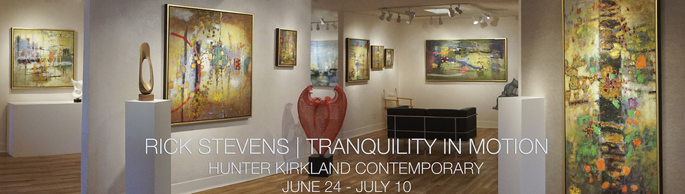 Rick's solo exhibition at Hunter Kirkland Contemporary opens today, Reception from 5-7pm.