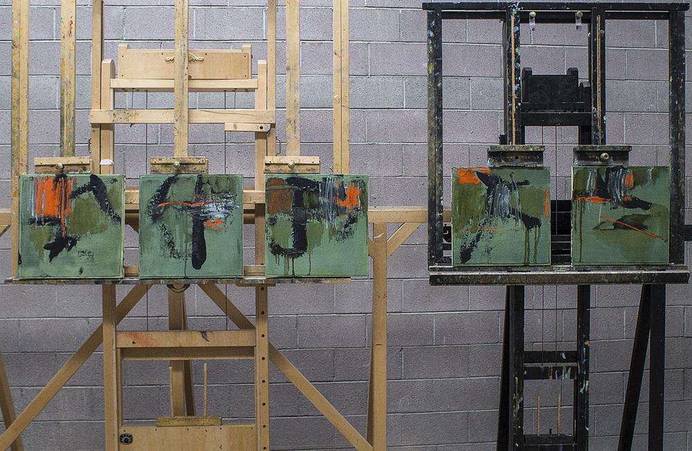 "New series of 18 x 18"" panels in progress"