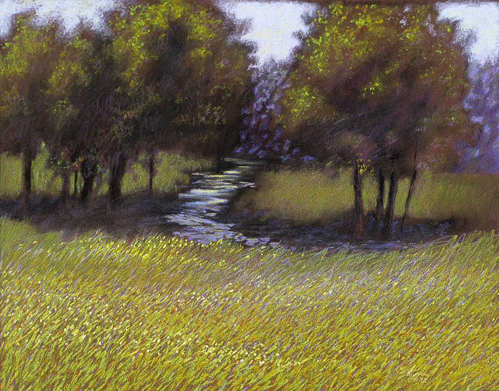Creek in the Shadows   | pastel on paper | 16 x 20"
