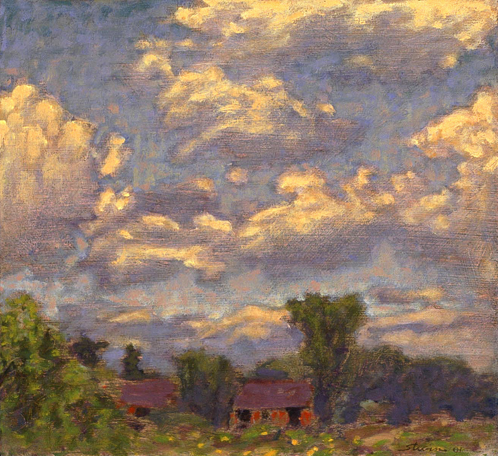Summer Sky   | oil on canvas | 12 x 13"