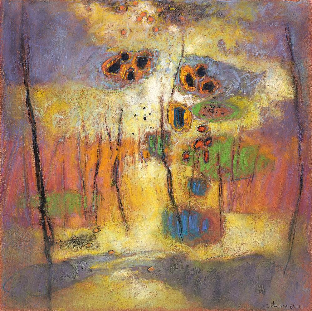 "67-11   | pastel on paper | 14 x 14"" | 2011"