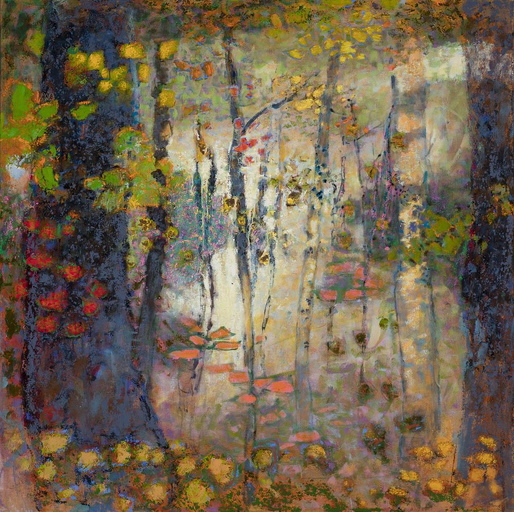 "Breathing Light   | oil on canvas | 48 x 48"" | 2016"