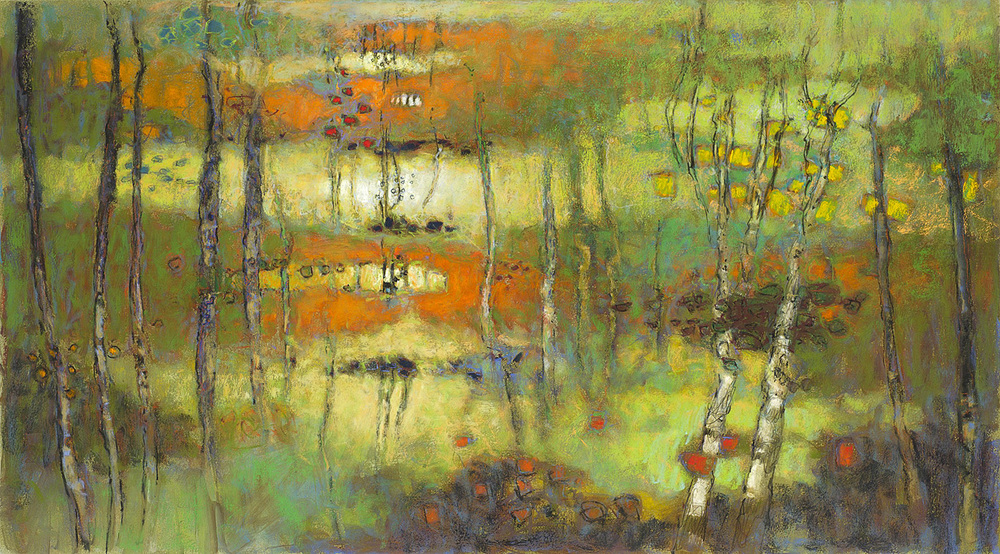 Daylight Slowly   | pastel on paper | 20 x 36"