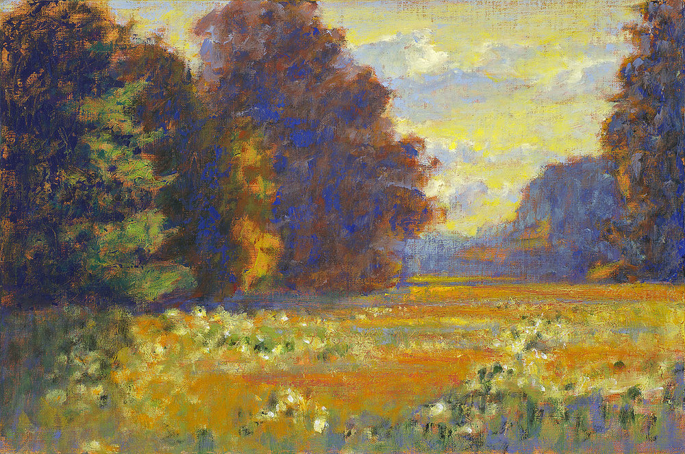 Late Summer Evening   | oil on linen | 12 x 18"