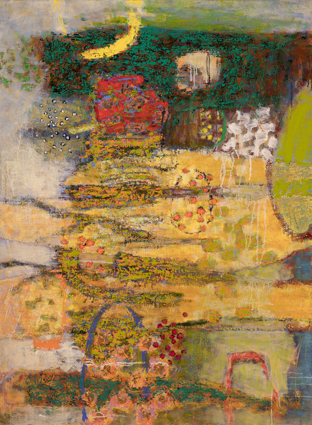 At the Crossroads of the Senses   | oil on canvas | 48 x 36"