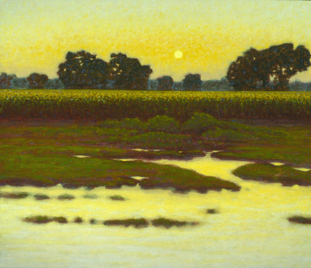 "Sunrise Over Cornfield   | oil on canvas | 12 x 15"" | 1995"