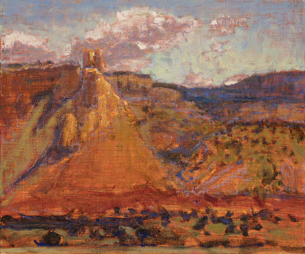 Ghost Ranch Overlook | oil on linen | 10 x 12"