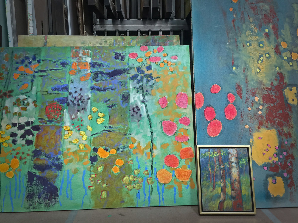 some new works in progress at the studio