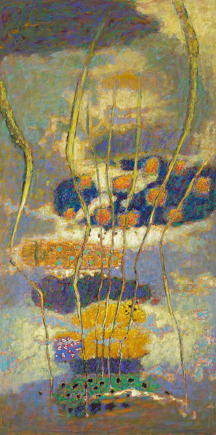 Over and Above | oil on canvas | 72 x 36"