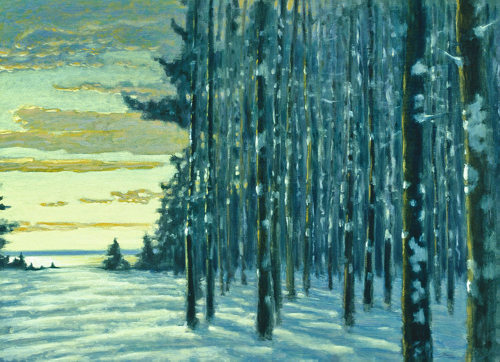 "Winter Grove   | oil on canvas | 20 x 28"" | 1995"