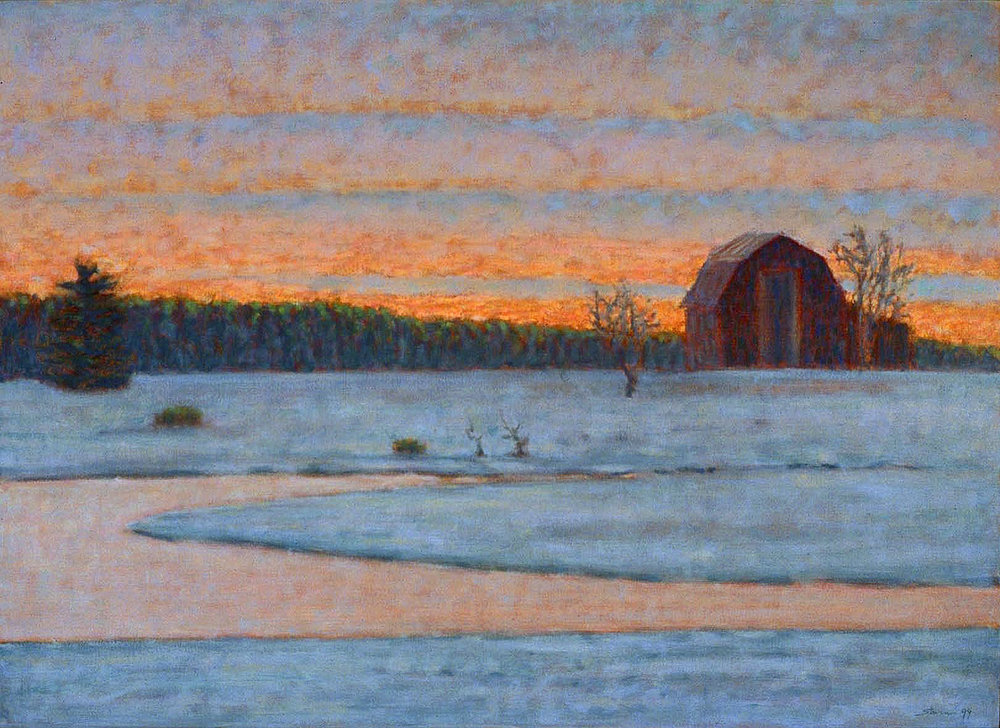 "Frozen Stream | oil on canvas | 26 x 36"" | 1999"