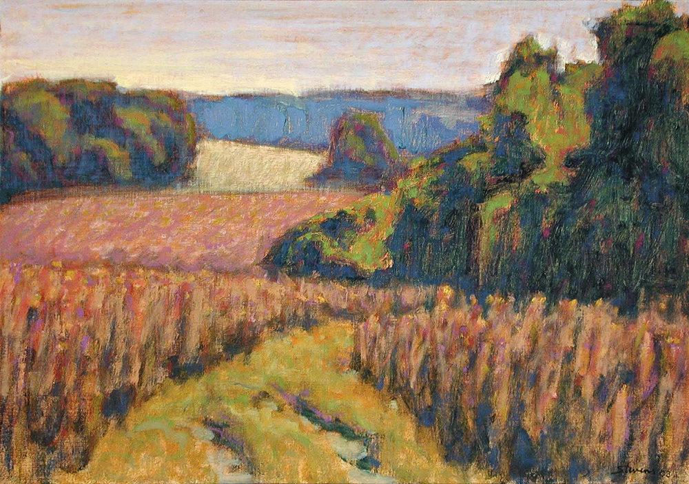 "Rolling Hills   | oil on linen | 14 x 20"" | 2003"