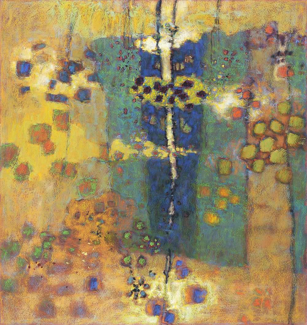 Reconfiguring   | pastel on paper | 36 x 34"