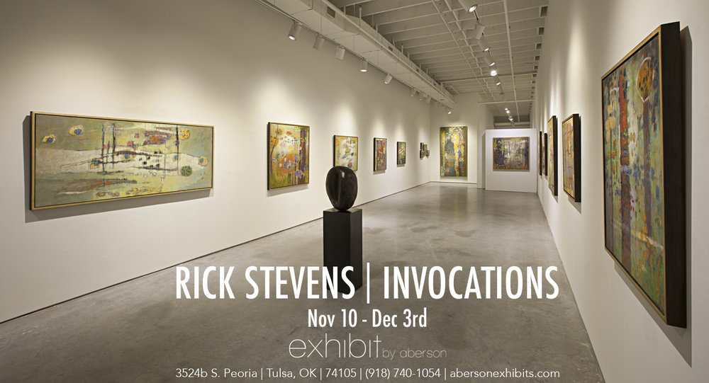 Rick's latest solo exhibition opens tonight at 6pm at Exhibit by Aberson in Tulsa, OK