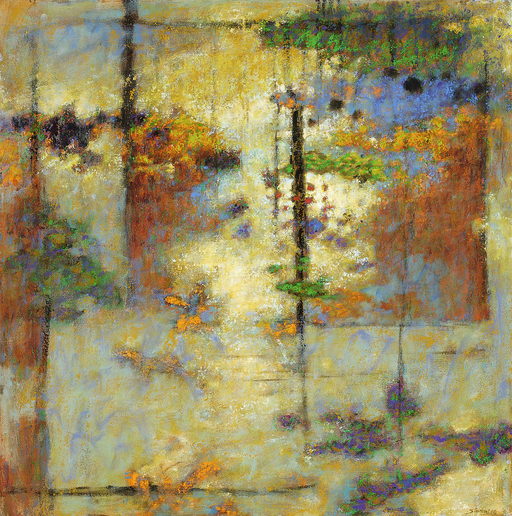 This Into That   | oil on canvas | 32 x 32"