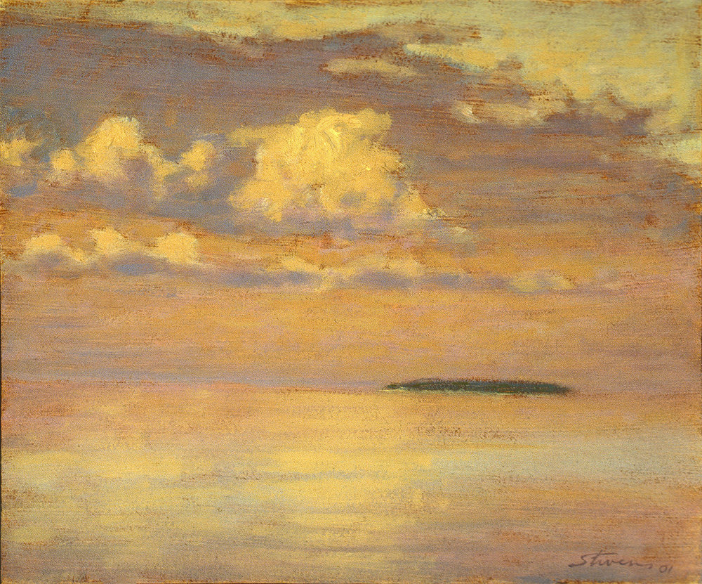 Sunrise, Trout Island   | oil on canvas | 10 x 12"