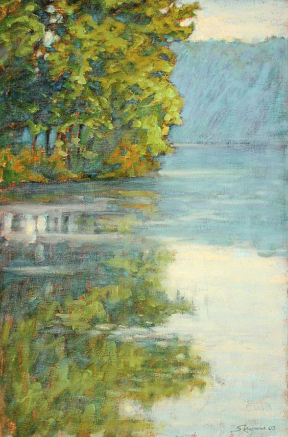 Reflections on Long Lake   | oil on canvas | 18 x 12"