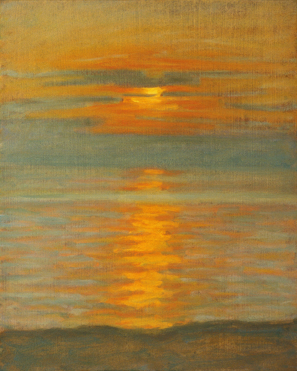 Sunset on Lake Michigan   | oil on canvas | 15 x 12"
