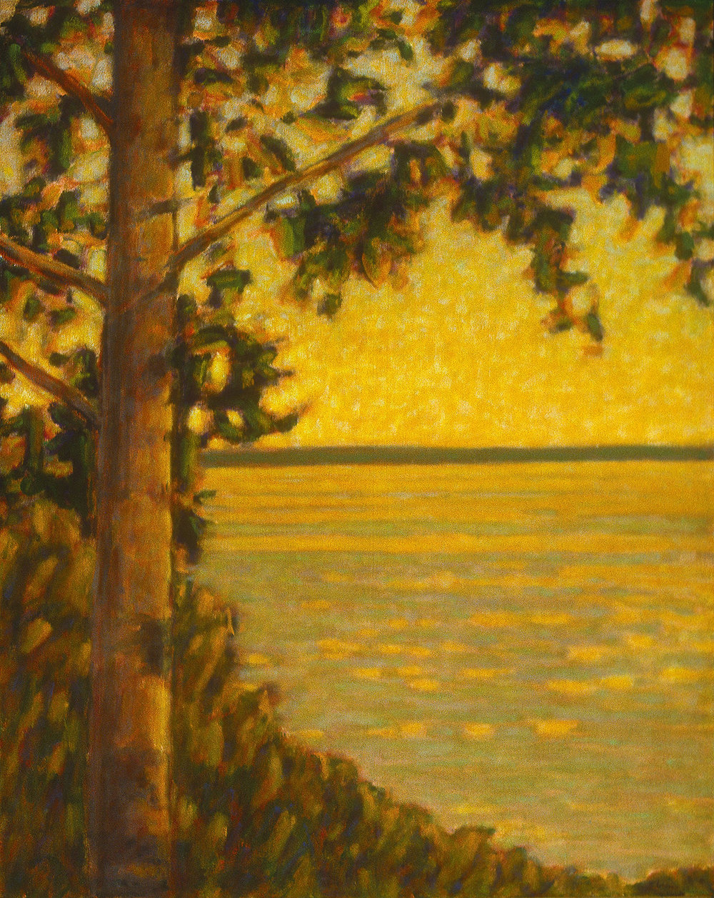 View From the Walking Trail | oil on canvas | 48 x 38"