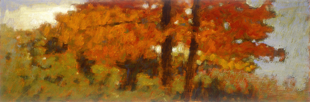 136-03   | oil on paper | 6 x 18"