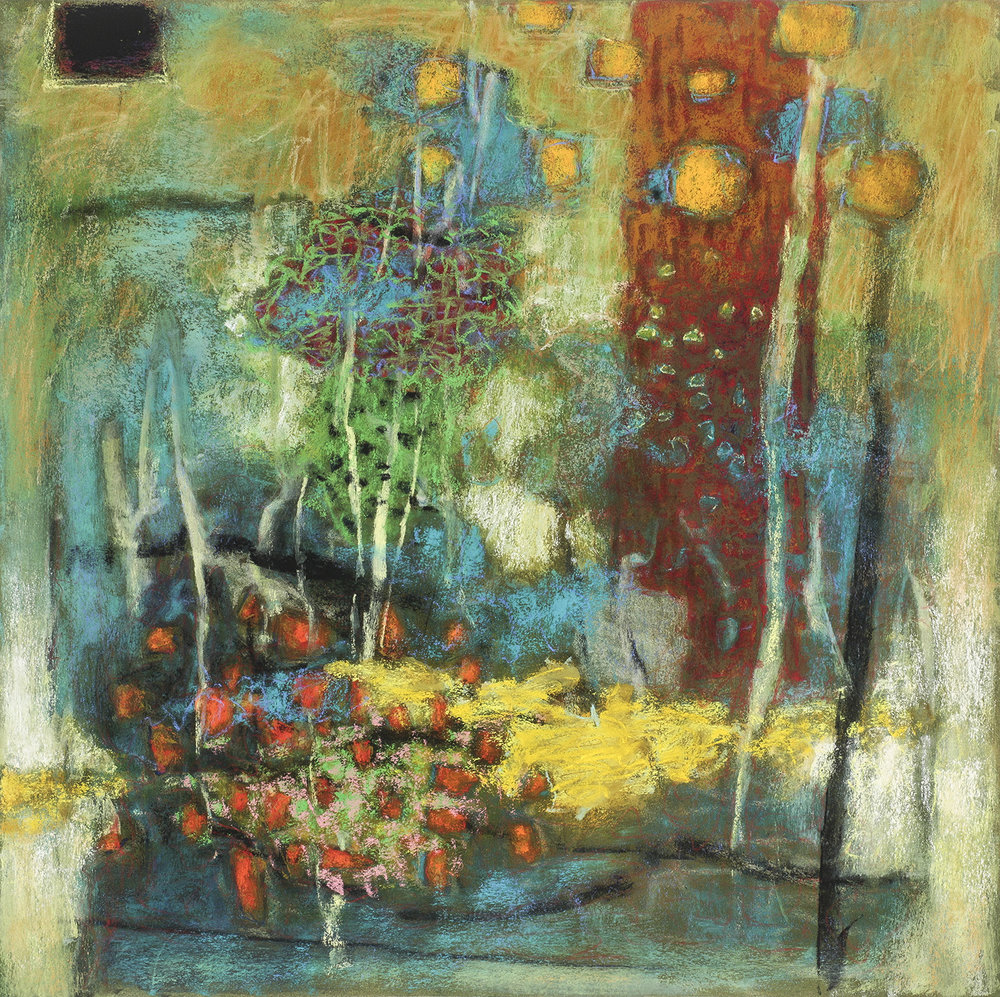 Dissolving Divisions   | pastel on paper | 24 x 24"