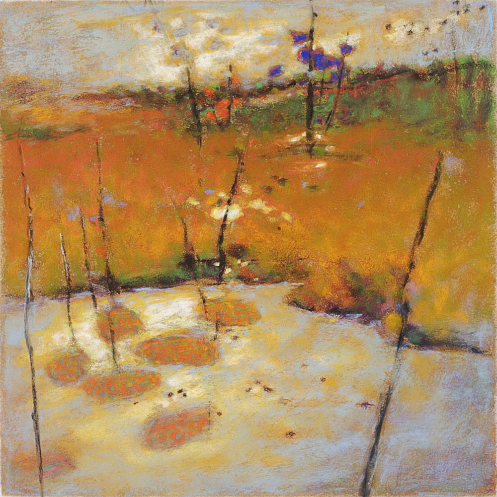 I Hear the Water Dreaming   | pastel on paper | 14 x 14"