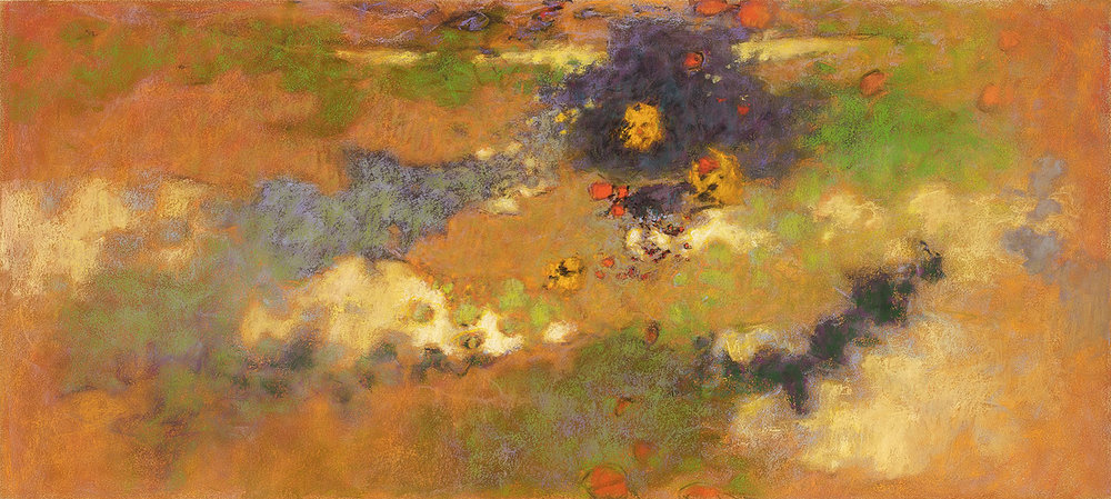 Abstract Air   | pastel on paper | 18  x 40"
